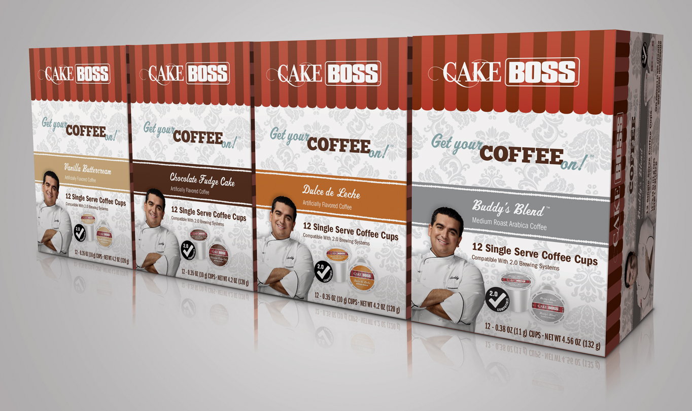 Cake Boss Coffee Packaging